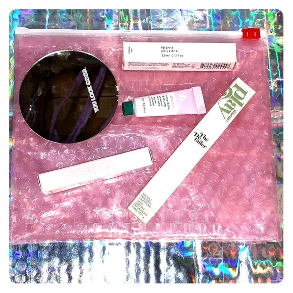 Glossier Other - Glossier you look good mirror bundle balm brow etc